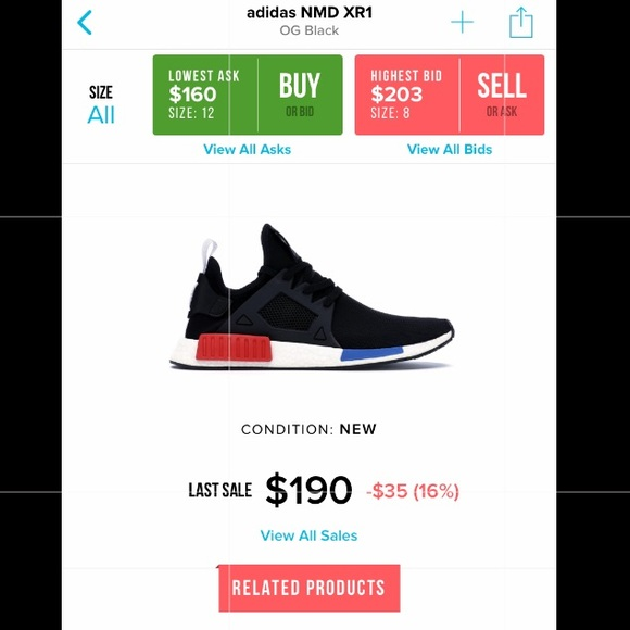 701584281f21d adidas Other - NMD XR1 Prime Knot Boost Sole OG Colorway
